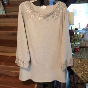 Style & Company Long sleeved embellished top